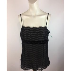 🎁Ann Taylor Lace Beaded Babydoll Top (Sppp)